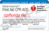 cpr florida cpr aed first aid class american heart card